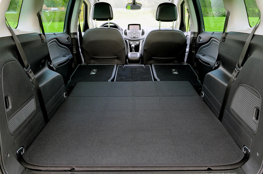 Vauxhall Zafira Tourer folded down seats