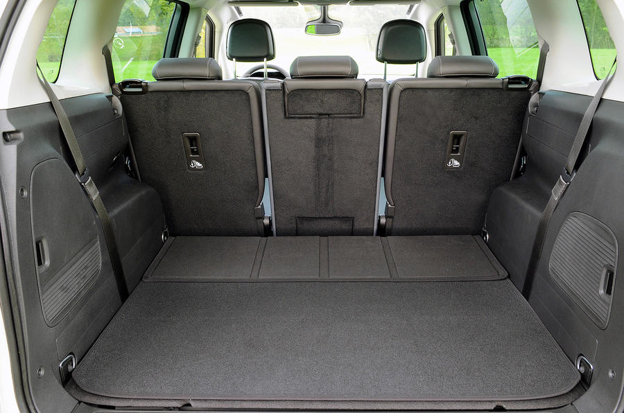 Vauxhall Zafira Tourer extended boot space