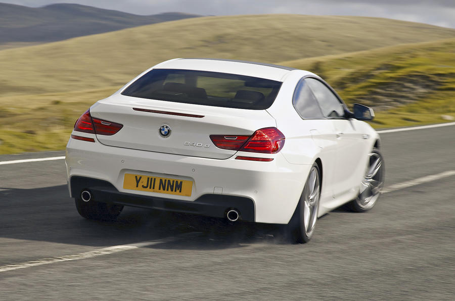 BMW 640d M Sport Coupé drifting