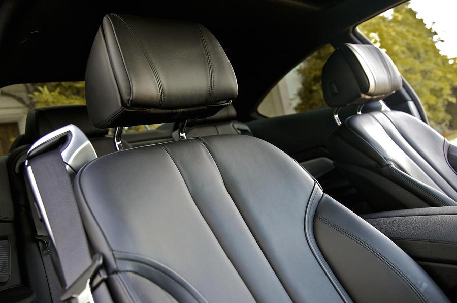 BMW 640d sport front seats