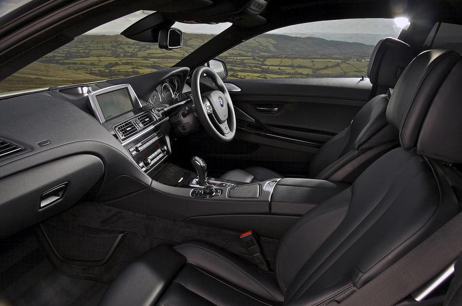 BMW 640d front seats