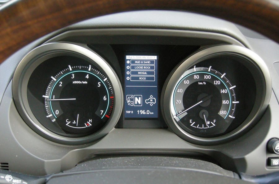 Toyota Land Cruiser instrument cluster