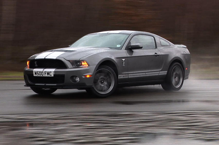 Ford Mustang Shelby GT500 sliding