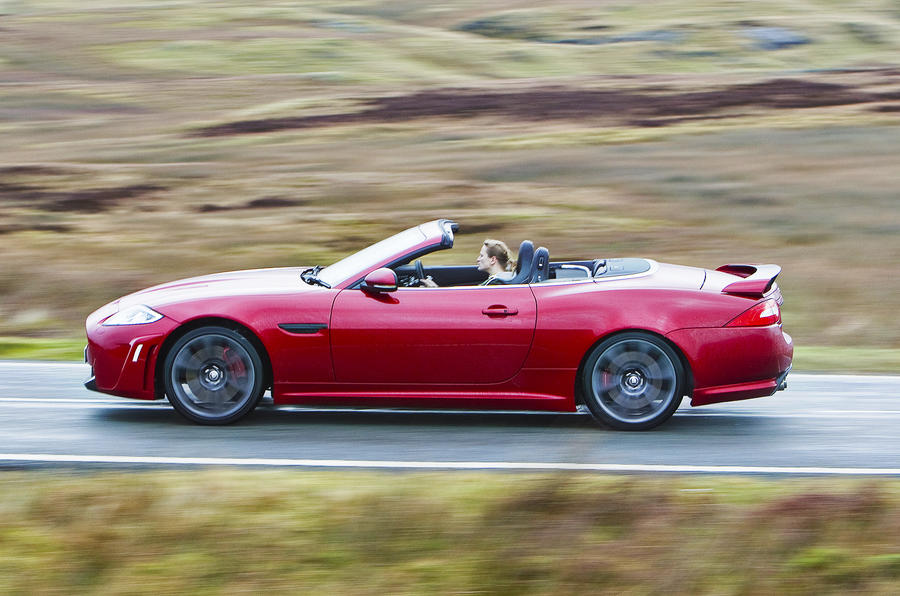 Jaguar XKR-S Convertible side profile