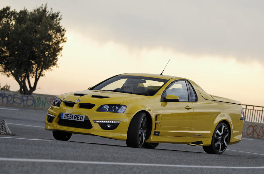 Vauxhall VXR Maloo drifting