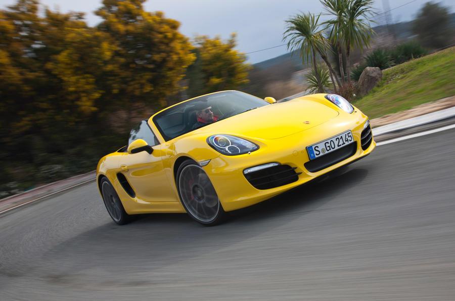 Porsche Boxster S cornering