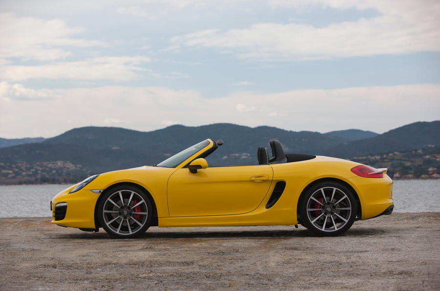 Porsche Boxster S roof down