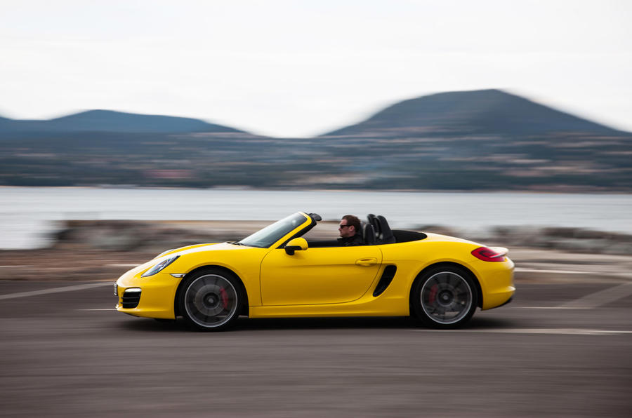 Porsche Boxster S side profile