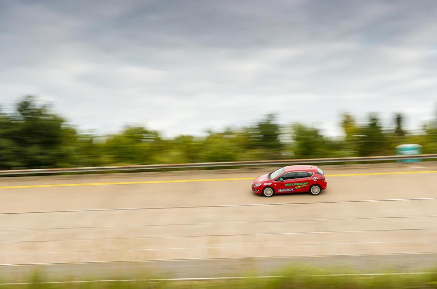 Vauxhall sets Millbrook speed record
