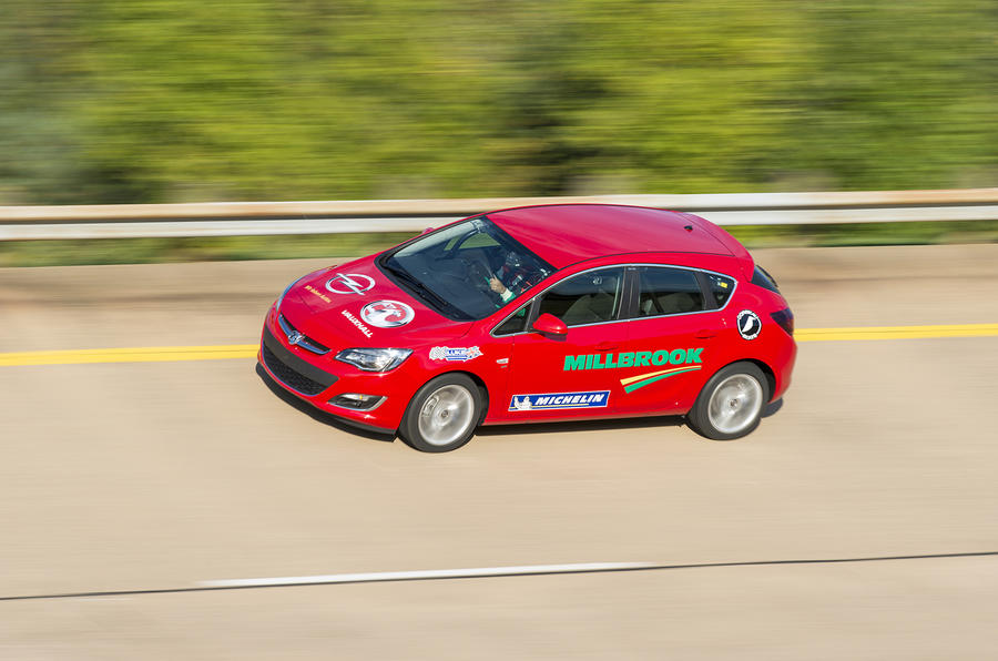 Vauxhall sets Millbrook speed record