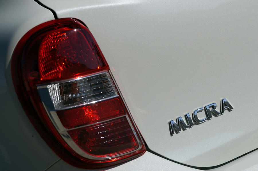 Nissan Micra DIG-S rear lights