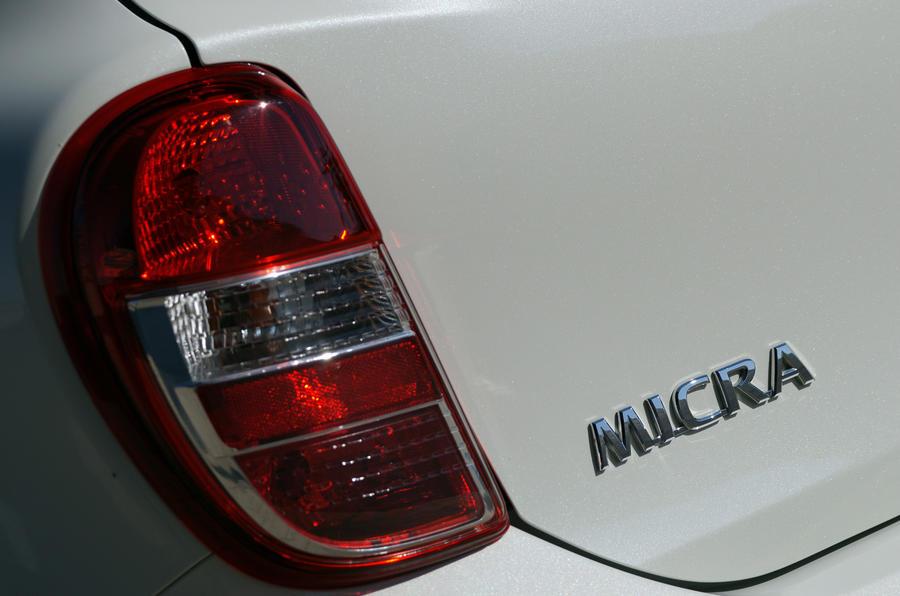 Nissan Micra DIG-S rear lights