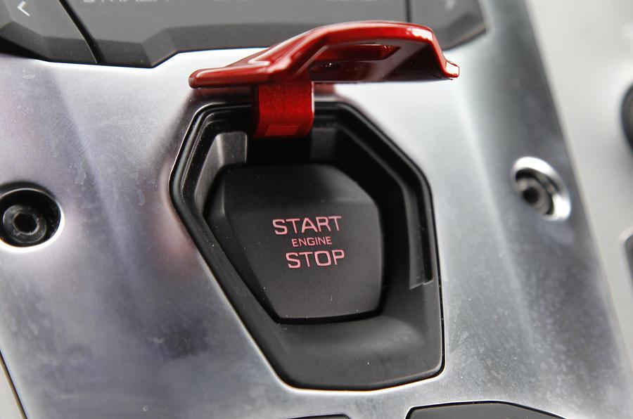 Lamborghini Aventador ignition button