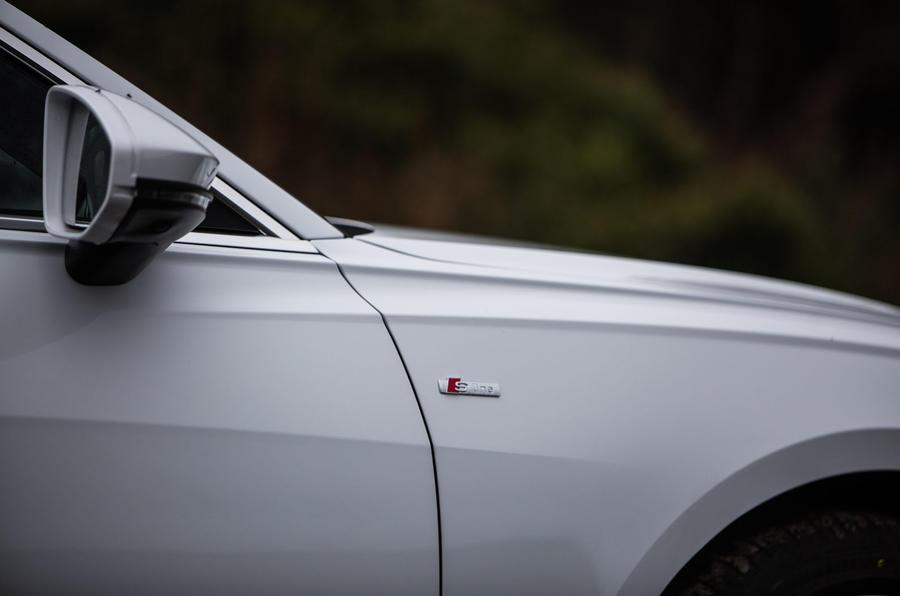 Audi A6 Avant 2018 road test review - S Line badge