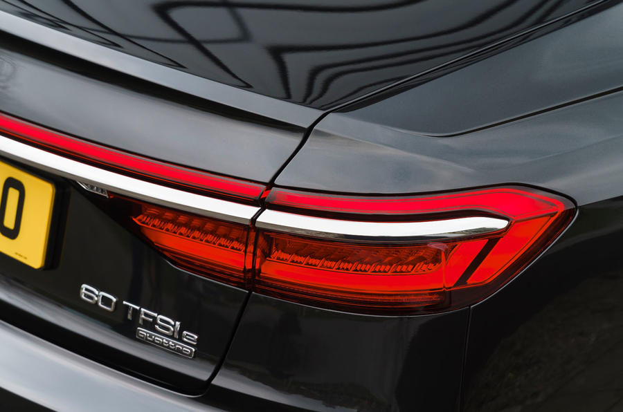 Audi A8 60 TFSIe 2020 road test review - rear lights