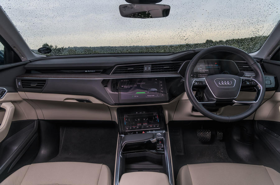 Audi E-tron 55 Quattro 2019 road test review - dashboard