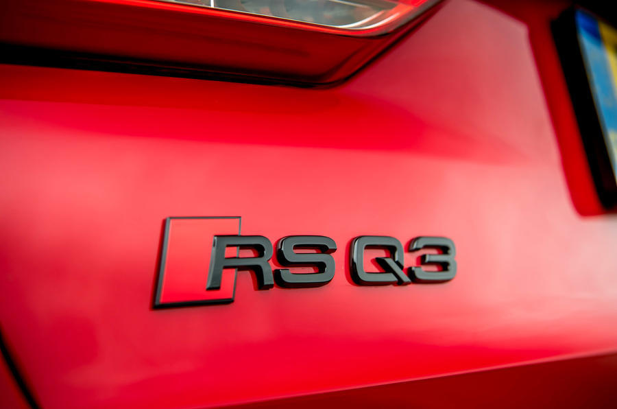 Audi RS Q3 2020 road test review - rear badge