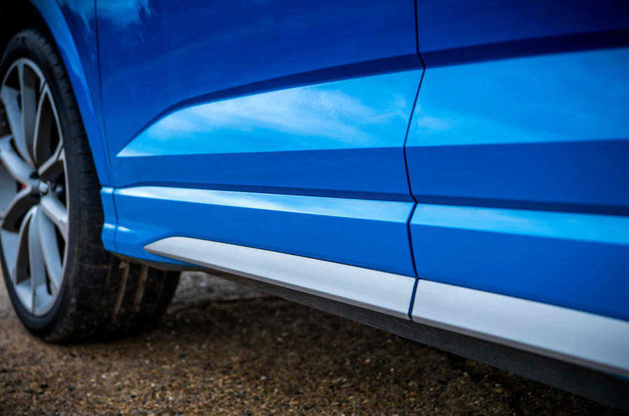 Audi RS Q3 Sportback 2020 road test review - side skirts