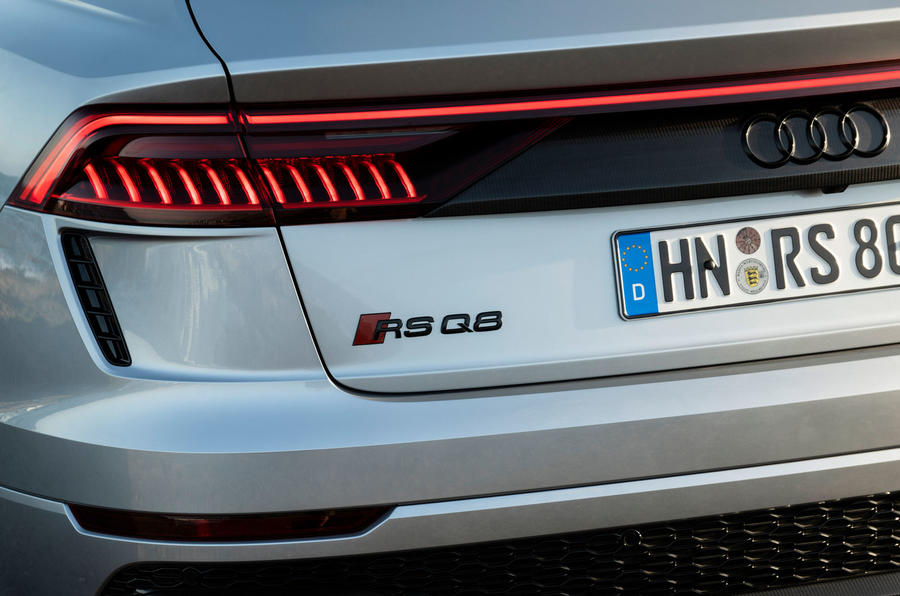 Audi RS Q8 2020 road test review - rear lights