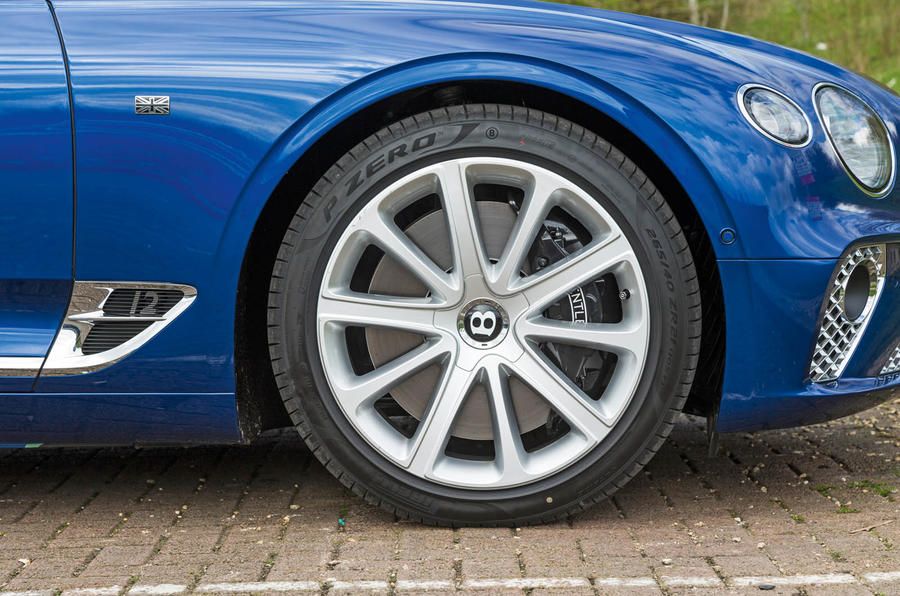 Bentley Continental GT 2018 Autocar road test review alloy wheels
