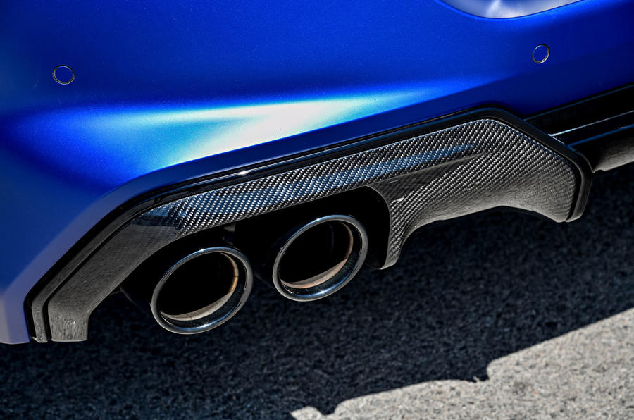 BMW M8 Competition coupe 2020 road test review - exhausts