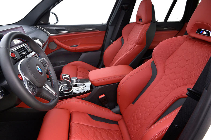 BMW X3 M Competition 2019 review - cabin