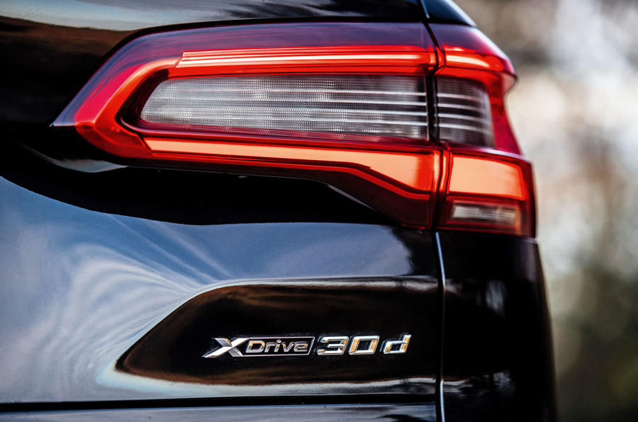 BMW X5 2018 road test review - rear lights