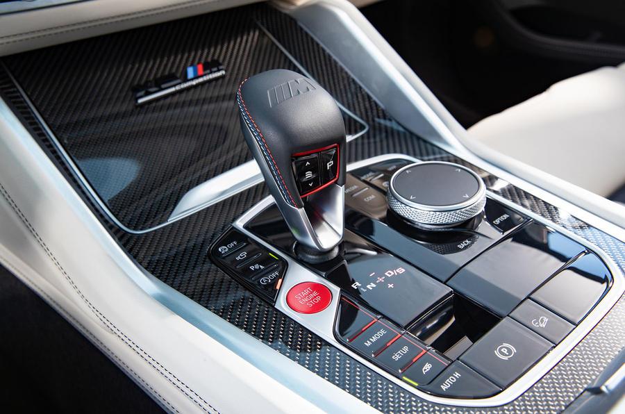 BMW X5 M Competition 2020 : examen de l'essai routier - console centrale