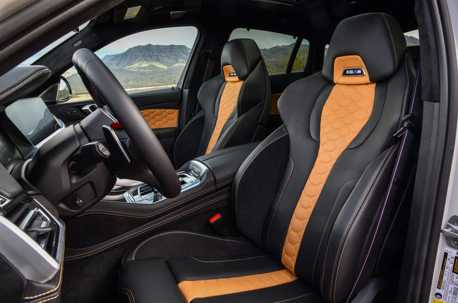 BMW X6 M Competition 2020 road test review - front seats