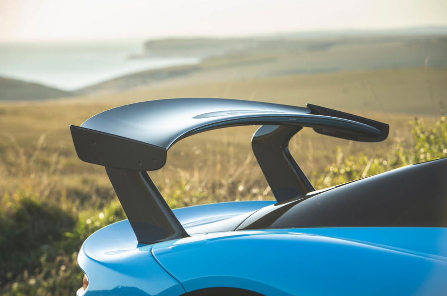 Dallara Stradale 2019 road test review - spoiler front