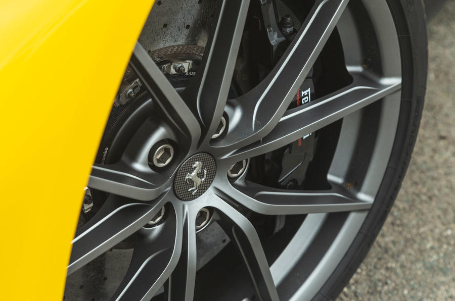 Ferrari 488 Pista 2019 road test review - wheel detail