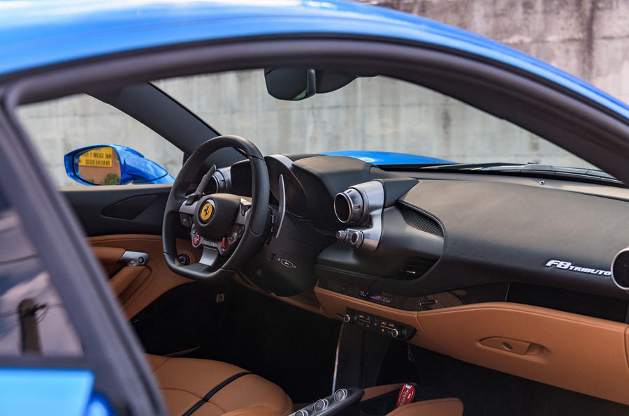 Ferrari F8 Tributo 2019 road test review - cabin