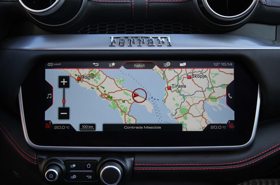 Ferrari Portofino review infotainment