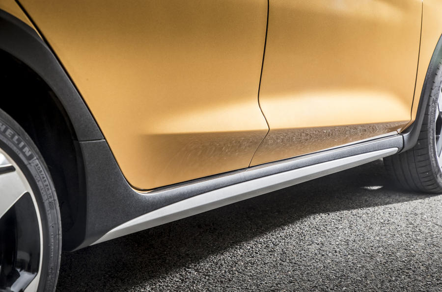 Ford Fiesta Active 2018 road test review side skirts