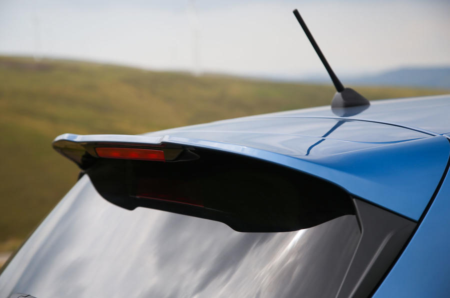 Ford Fiesta ST 2018 road test review spoiler
