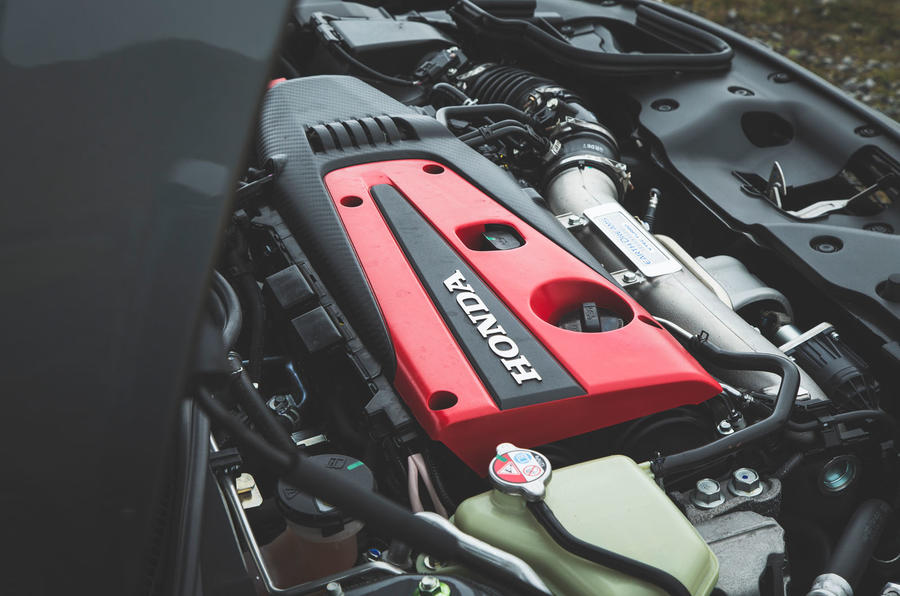 Honda Civic Type R 2019 road test review - engine cover