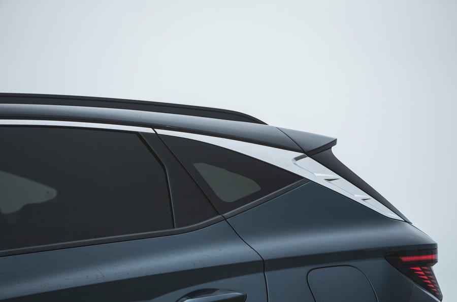 8 Essai routier du Hyundai Tucson 2021 : l'arrière du véhicule