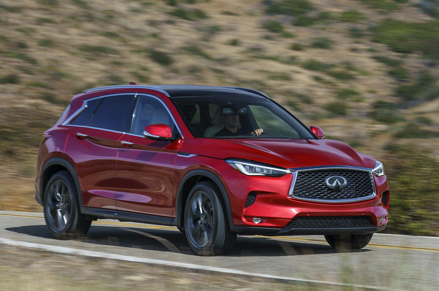 Infiniti QX50 2018 review - front corner