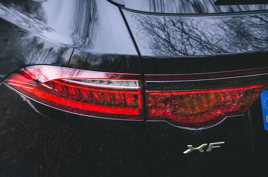 Jaguar XF Sportbrake 2019 road test review - rear lights