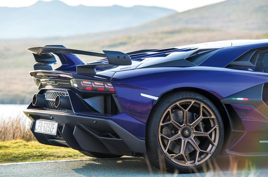 Lamborghini Aventador SVJ 2019 road test review - rear end