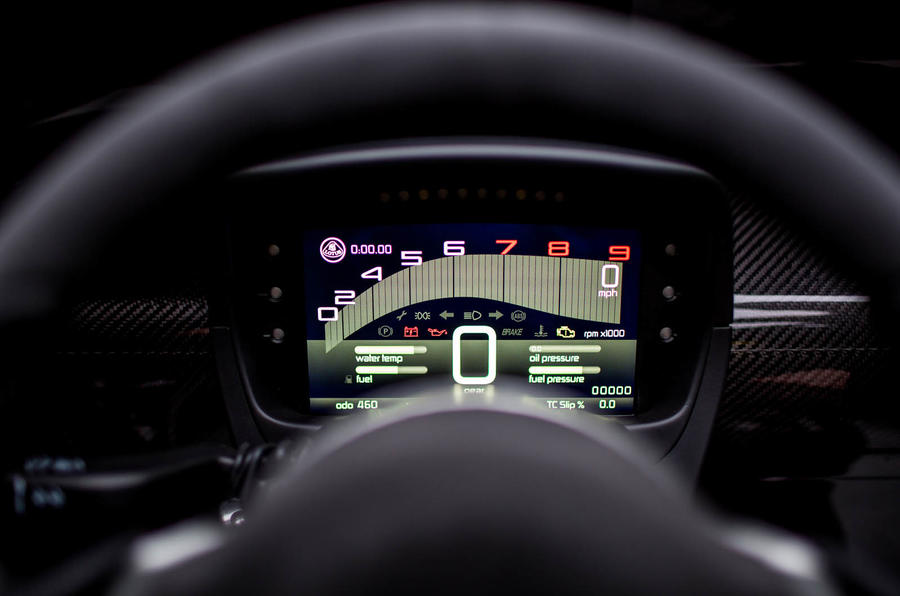 Lotus 3-Eleven 430 review instrument cluster