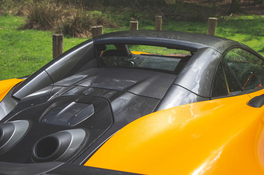McLaren 600LT Spider 2019 road test review - rear window
