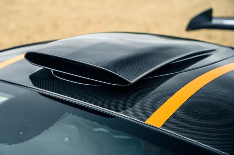 8 McLaren 620R 2021 road test review roof scoop