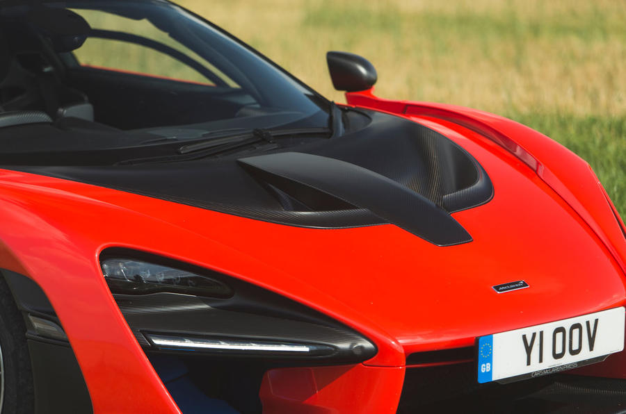 McLaren Senna 2018 road test review - bonnet