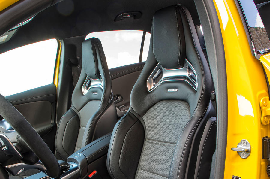 Mercedes-AMG A35 2018 review - front seats