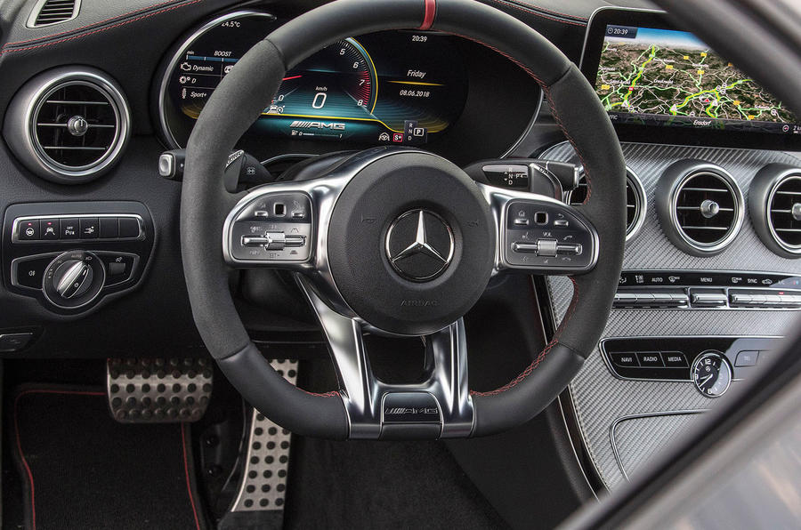 Mercedes-AMG C43 Coupe 2018 road test review steering wheel