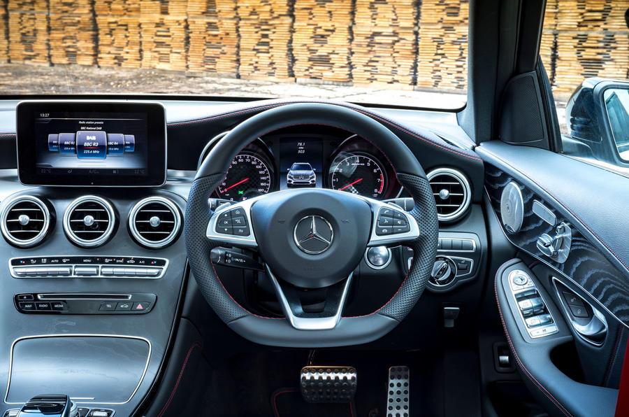 Mercedes-AMG GLC 43 road test review - steering wheel