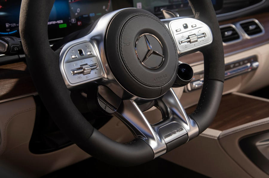 Mercedes-AMG GLS 63 2020 road test review - steering wheel