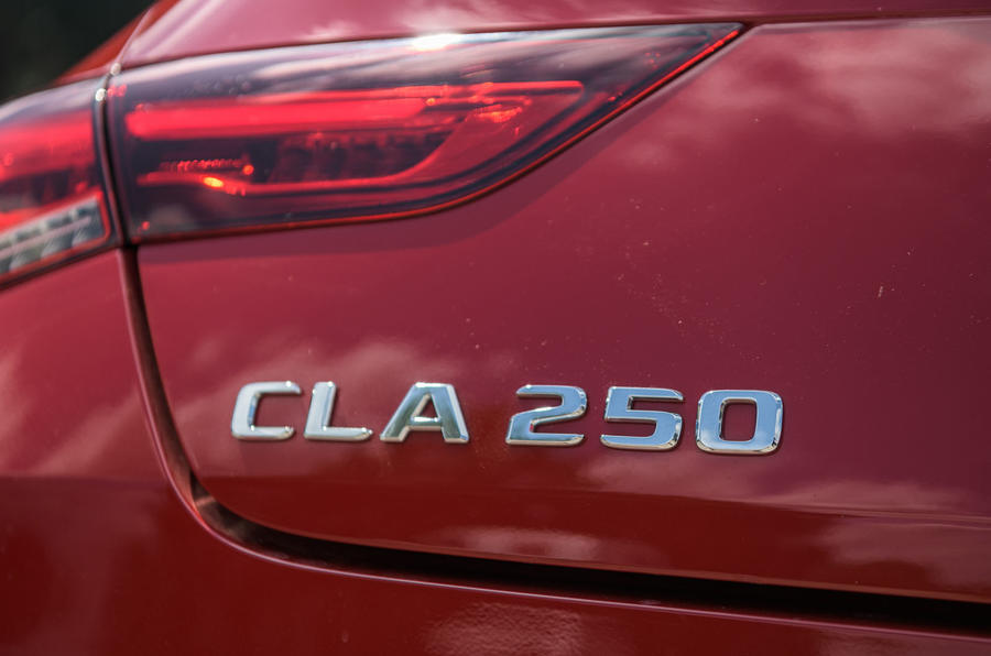 Mercedes-Benz CLA 2019 road test review - rear badge
