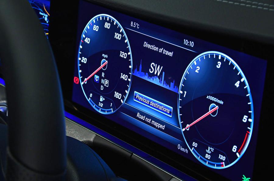 Mercedes-Benz CLS 400d 2018 review instrument cluster